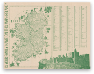 Map Of Ireland Heritage Sites.Is Your Family Name On This Map Of Ireland Irish Family Maps
